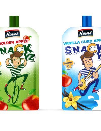 HAME - ovocný snack - design obalu s ilustrací
