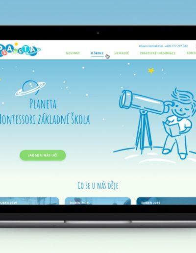 škola Planeta - webdesign, ilustrace, logo