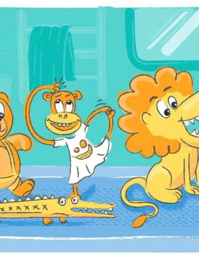 ilustrace k návodu na kartáček pro děti